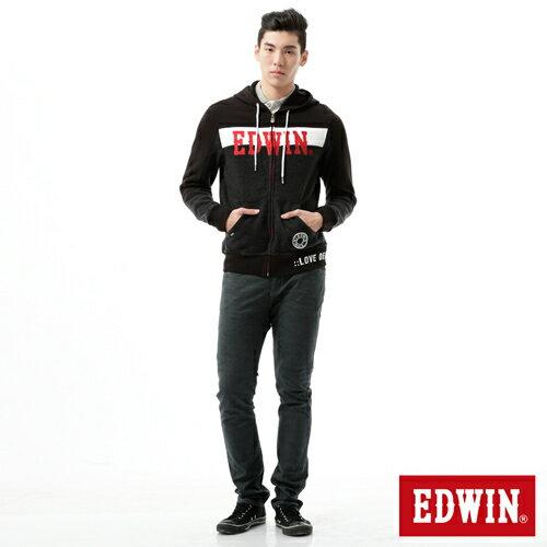 【9折優惠↘】【大尺碼】EDWIN EDGE迷彩提織後染窄直筒褲-男-墨綠 2