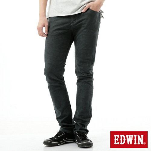 【9折優惠↘】【大尺碼】EDWIN EDGE迷彩提織後染窄直筒褲-男-墨綠 0