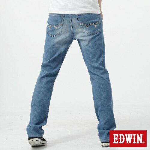 【週年慶。8折優惠↘】EDWIN 503FLEX伸縮中直筒褲-男-漂淺藍【單筆2000結帳輸入優惠券代碼161028。現折240元】 1