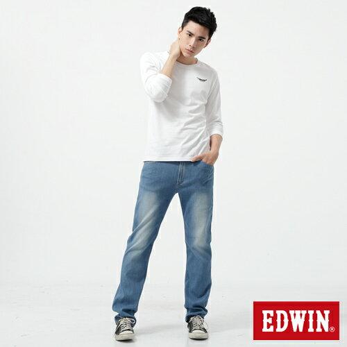【週年慶。8折優惠↘】EDWIN 503FLEX伸縮中直筒褲-男-漂淺藍【單筆2000結帳輸入優惠券代碼161028。現折240元】 2
