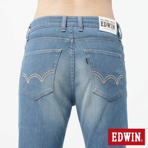 【週年慶。8折優惠↘】EDWIN 503FLEX伸縮中直筒褲-男-漂淺藍【單筆2000結帳輸入優惠券代碼161028。現折240元】 4