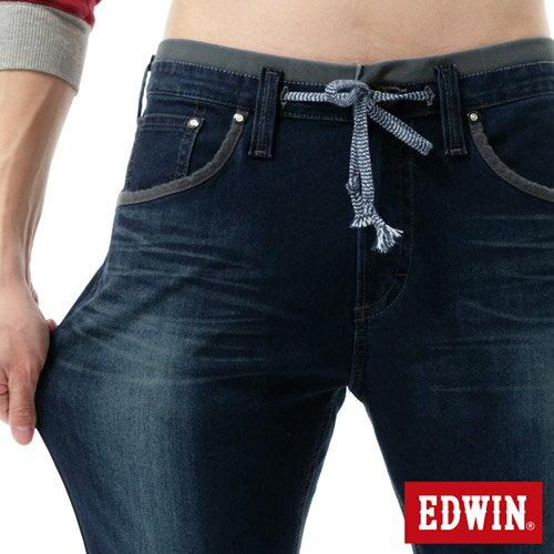 【2200元優惠↘】【大尺碼】EDWIN JERSEYS 503迦績CARGO 牛仔褲-男款 拔洗藍 3