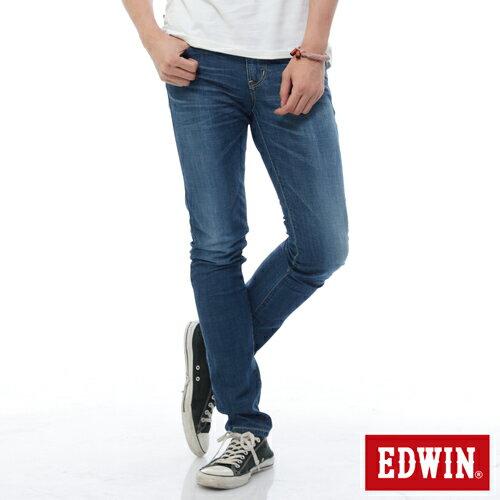 【9折優惠↘】EDWIN EDEG 輕爽COOL 窄直筒牛仔褲-男-酵洗藍 0