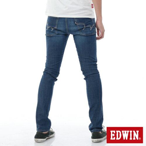 【9折優惠↘】EDWIN EDEG 輕爽COOL 窄直筒牛仔褲-男-酵洗藍 1