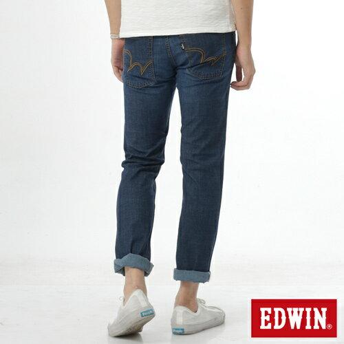 【週年慶。8折優惠↘】EDWIN EDEG 輕爽COOL 中直筒牛仔褲-男-拔洗藍 1