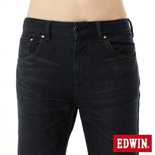 【9折優惠↘】EDWIN JERSEYS 迦績貼合內裡保溫中直筒牛仔褲-男款 酵洗藍 4