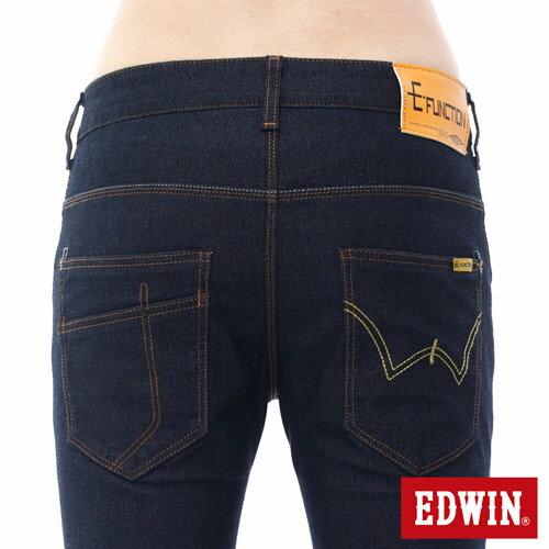 【9折優惠↘】EDWIN JERSEYS x E-F 迦績3D剪裁中直筒牛仔褲-男款 原藍 3