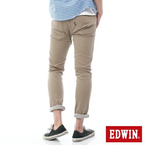【週年慶。8折優惠↘】EDWIN EDEG 乾爽COOL 窄直筒色褲-男-卡其 1