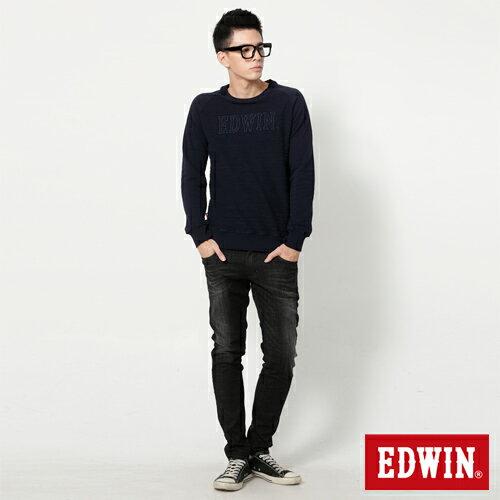 【9折優惠↘】EDWIN NEW503經典窄直筒牛仔褲-男-黑灰刷色 2
