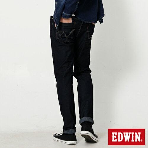 【週年慶。8折優惠↘】EDWIN JERSEYS 迦績紅黑賽車格腰頭AB褲-男款 原藍色【單筆2000結帳輸入優惠券代碼161027。現折240元】 1