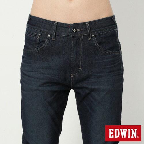 【週年慶。8折優惠↘】【大尺碼】EDWIN JERSEYS 迦績漸層袋花窄直筒牛仔褲-男款 原藍磨 3