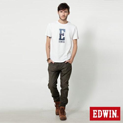 【週年慶。8折優惠↘】EDWIN JERSEYS x E-F 迦績磨毛窄直筒色褲-男款 橄欖綠 2