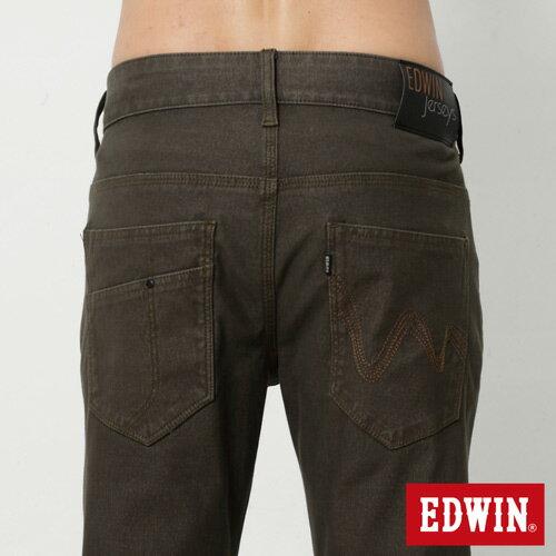 【週年慶。8折優惠↘】EDWIN JERSEYS x E-F 迦績磨毛窄直筒色褲-男款 橄欖綠 4