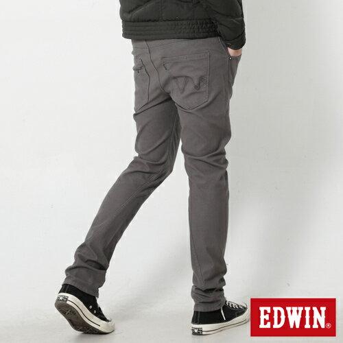 【週年慶。8折優惠↘】EDWIN JERSEYS x E-F 迦績磨毛窄直筒色褲-男款 灰色 1