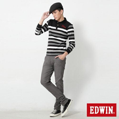 【週年慶。8折優惠↘】EDWIN JERSEYS x E-F 迦績磨毛窄直筒色褲-男款 灰色 2