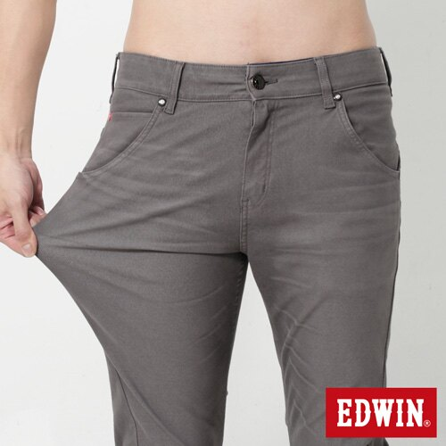 【週年慶。8折優惠↘】EDWIN JERSEYS x E-F 迦績磨毛窄直筒色褲-男款 灰色 3