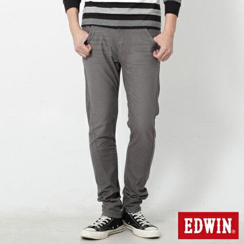 【週年慶。8折優惠↘】EDWIN JERSEYS x E-F 迦績磨毛窄直筒色褲-男款 灰色 0
