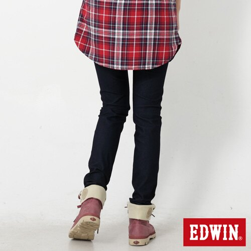 【9折優惠↘】Miss EDWIN JERSEYS 迦績內藏紅腰頭窄管牛仔褲-女款 原藍色【單筆滿2000結帳輸入 NGNN-SXDL-3YZU-WCH0→現折200元】 1