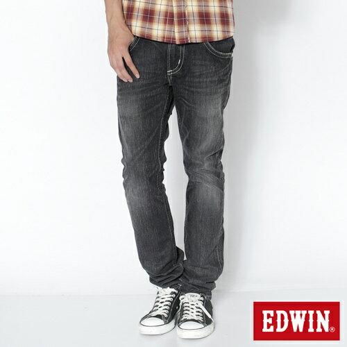 【990元優惠↘】EDWIN 503B.T西海岸風袋蓋直筒褲-男款 牛仔刷洗灰黑色 0