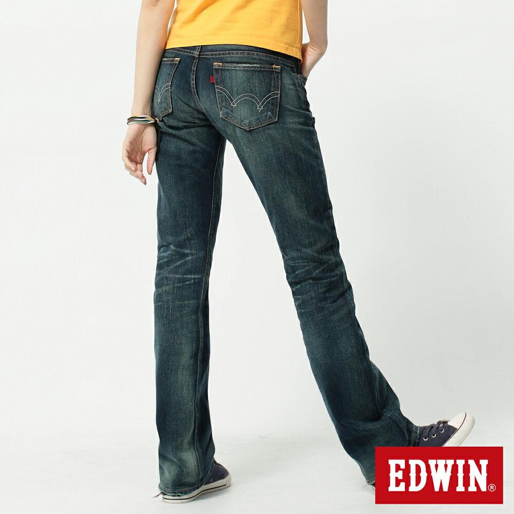 【990元優惠↘】Miss EDWIN 503 RV純棉中直筒牛仔褲-女-拔淺藍 1