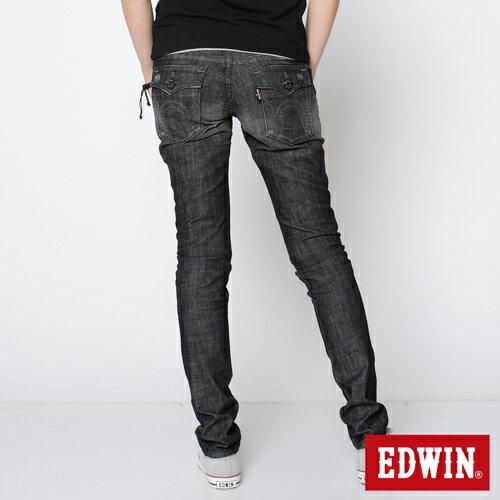 【990元優惠↘】EDWIN Miss 503 BLUE TRIP袋蓋直筒牛仔褲-女款 刷色灰 1