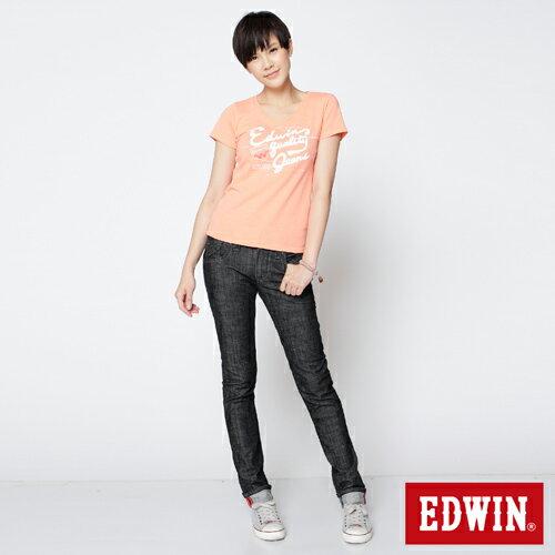 【990元優惠↘】EDWIN Miss 503 BLUE TRIP袋蓋直筒牛仔褲-女款 黑色 2