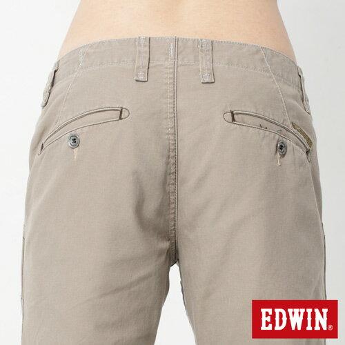 【990元優惠↘】EDWIN BLUE JEANS KHAKI 休閒色褲-男款 灰褐色 4