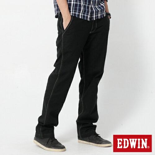【990元優惠↘】EDWIN BLUE JEANS KHAKI 休閒色褲-男款 黑色 0