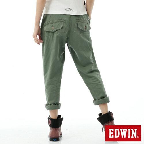 【5折優惠↘】Miss EDWIN KHAKI BOYFRIEND休閒褲 女款 橄欖綠【單筆滿2000結帳輸入 NGNN-SXDL-3YZU-WCH0→現折200元】 1