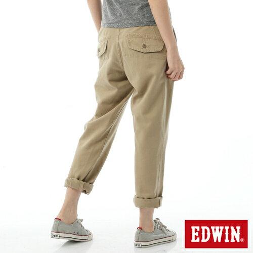 【SUPER SALE。丹寧單一價590↘】Miss EDWIN KHAKI BOYFRIEND休閒褲-女款 淺卡其 1
