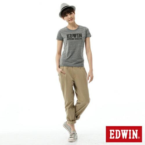 【SUPER SALE。丹寧單一價590↘】Miss EDWIN KHAKI BOYFRIEND休閒褲-女款 淺卡其 2