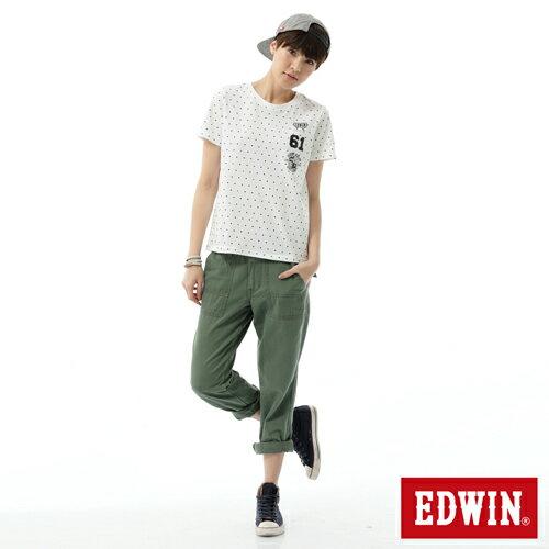 【SUPER SALE。丹寧單一價590↘】Miss EDWIN KHAKI 休閒褲-女款 橄欖綠 2