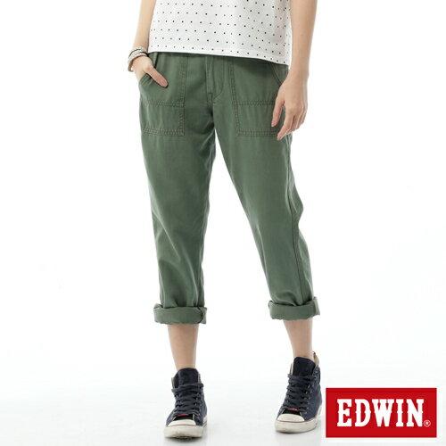 【SUPER SALE。丹寧單一價590↘】Miss EDWIN KHAKI 休閒褲-女款 橄欖綠 0