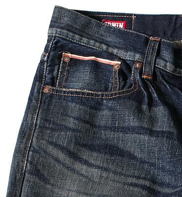【獨家款式。990元特惠↘】EDWIN 505 ZX 直筒牛仔褲-男款 中古藍 1