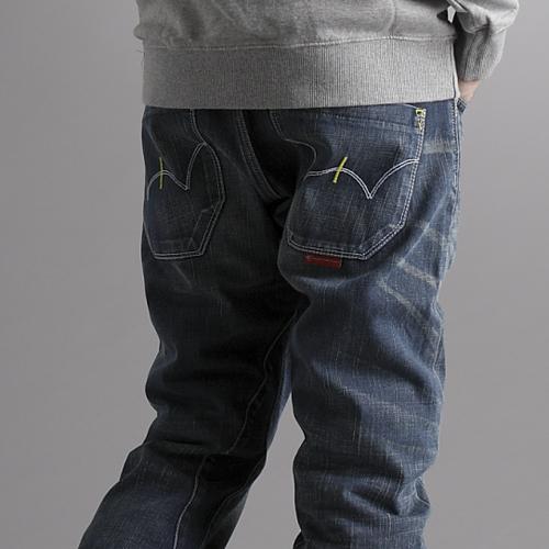 【5折優惠↘】EDWIN E-FUNCTION 直筒牛仔褲-男款 酵洗藍 0