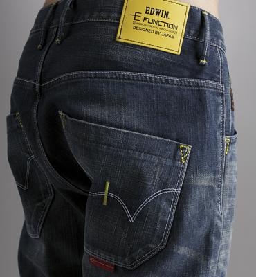 【5折優惠↘】EDWIN E-FUNCTION 直筒牛仔褲-男款 酵洗藍 2