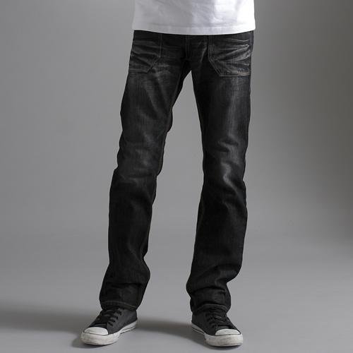 【5折優惠↘】EDWIN BLUE TRIP 牛皮袋蓋中直筒牛仔褲-男款 灰色 0