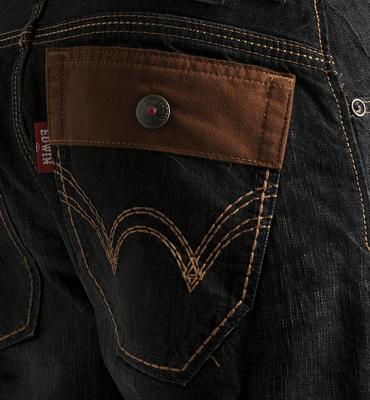 【5折優惠↘】EDWIN BLUE TRIP 牛皮袋蓋中直筒牛仔褲-男款 灰色 2