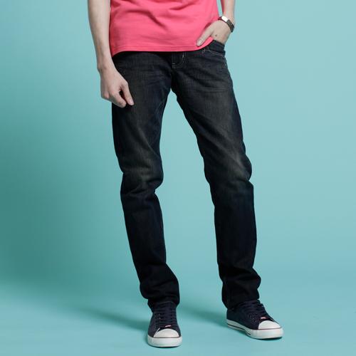 【5折優惠】EDWIN BLUE TRIP 假口袋袋蓋AB褲-男款 酵洗藍 0