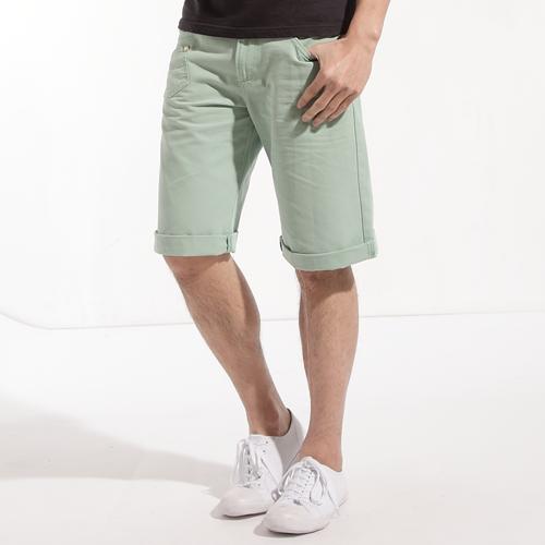 【790元優惠↘】EDWIN 503 BLUE TRIP 棉質5分短褲-男款 嫩綠色