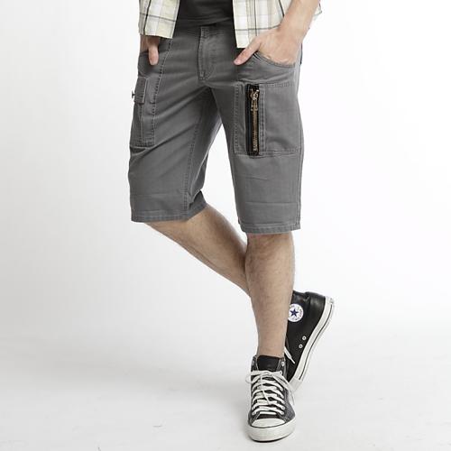 【790元優惠↘】EDWIN 麂皮拉鍊五分短褲 男款 灰色