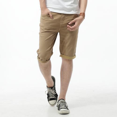 【9折優惠↘】EDWIN JERSEYS 迦績彈力休閒短褲-男款 淺卡其 0
