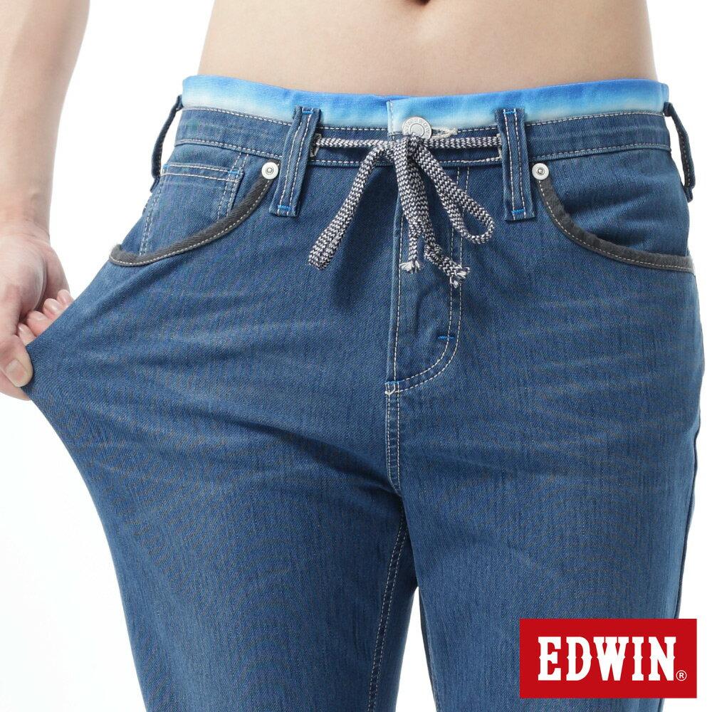 【1290元優惠↘】【大尺碼】EDWIN JERSEYS迦績涼爽工作短褲-男-石洗藍 2