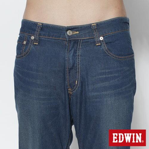 【SUPER SALE。丹寧單一價590↘】EDWIN COOL RELAX中直筒牛仔褲-男款 原藍磨【單筆滿888結帳輸入 SS_20161207→現折100元】 3