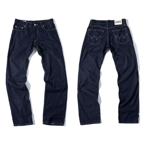 【獨家款式。990元特惠↘】EDWIN COOL RELAX直筒褲-男款 原藍磨 0