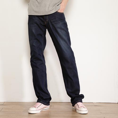 【獨家款式。990元特惠↘】EDWIN COOL RELAX直筒褲-男款 中古藍 0