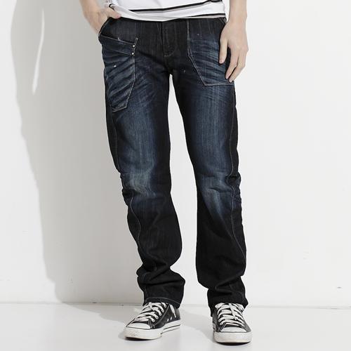 【5折優惠↘】【大尺碼】EDWIN  503 E-FUNCTION 窄管直筒褲-男款 輕刷牛仔藍 0