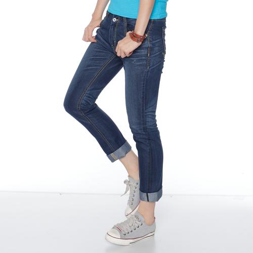 【5折優惠↘】Miss EDWIN 503 涼感牛仔褲-女款 原藍磨 0