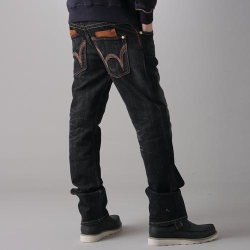 【1290元優惠↘】EDWIN BLUE TRIP 牛皮袋蓋牛仔褲-男款 灰色 0