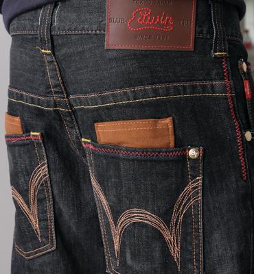 【1290元優惠↘】EDWIN BLUE TRIP 牛皮袋蓋牛仔褲-男款 灰色 2
